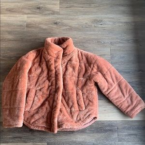 Forever 21 Pink Fuzzy Puffer Jacket